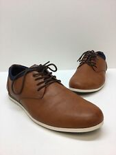 Aldo Mens Brown Leather Lace Up Fashion Sneakers Size 12 D