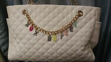 XOX Betsey Johnson Give Me A B Quilted White Purse/ Tote