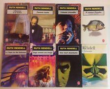8 livres Ruth RENDELL Fausse route Oiseau crocodile  thriller roman
