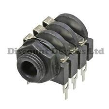 6.3mm Stereo PCB Mount Jack Socket Plastic