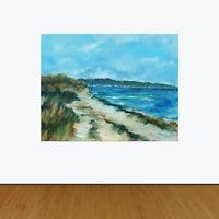 """Menemsha Beach Martha's Vineyard Original Oil Painting S. Archer 20"""" Plein Air"""