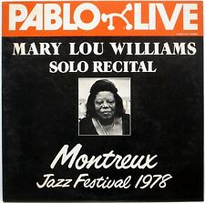 MARY LOU WILLIAMS / SOLO RECITAL MONTREUX JAZZ FES 1978 / POLYDOR JAPAN