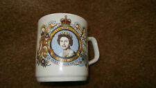 Queen Elizabeth ii Commemorative Silver Jubilee Mug