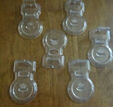 SET OF 6 CLEAR PLASTIC TEACUP DISPLAY HOLDERS / STANDS