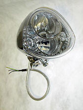 Iron Horse PIAA Chrome Motorcycle Headlamp w/ LED DRLs DOT SAE Approved