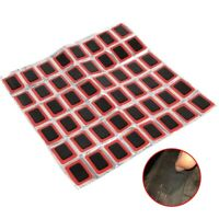 48Pcs Bicycle Bike Tire Tyre Tube Repair Patches Tool Kit Square Rubber Puncture