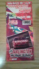 1993 Darlington Nascar Transouth 500 Ticket Brochure