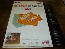 MC SOLAAR - PUBLICITE DATES TOURNEE - PROSE COMBAT !!!!