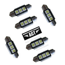6x  CANBUS error free 6418 36mm 3-5050 smd LED w/heatsink