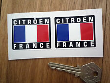 CITROEN FRANCE Tricolore Style Stickers 50mm Pair Car Rally Race Sport Saxo C2 3