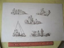 Vintage Print,COASTAL MARITIME OCCUPATIONS,Pynes Occupations,1805