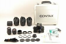 【Complete Set!】CONTAX G2 Black 28/45/90mm Lenses TLA200 in Trunk From JAPAN#2859