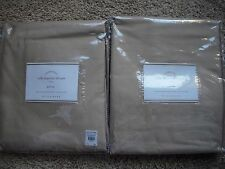 "POTTERY BARN 2 Dupioni Silk Pole Pocket Drape Panels 50 x 84"" - Parchment NEW"