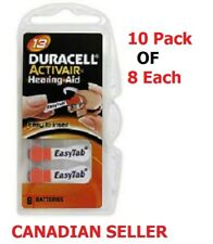 Pack of 80 x New Super Fresh Duracell Activair Size 13 P13 Hearing Aid Battery
