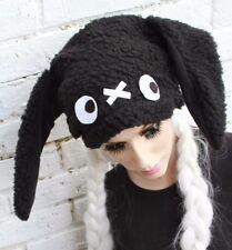 Bunny EAR HAT Bianco Nero Goth Indie KAWAII emo scene KAWAII jrock LOLITA