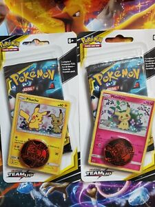 Pokemon TCG : Team Up Booster Pack Promo (Set of 2) Checklane - Pikachu Mimikyu
