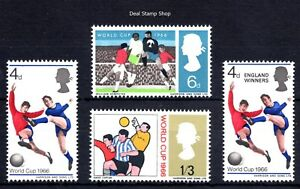 1966 Football World Cup Set Including Cup Winners Stamp Unmounted Mint FREEPOST