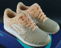 ASICS GEL LYTE III BLEACHED APRICOT GUM WHITE SIZE UK 4 EU 37 DS TRAINERS SHOES