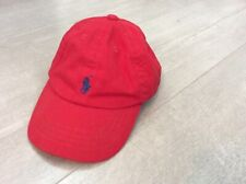 Baby Boys Polo Ralph Lauren Red Baseball Cap Summer Hat 12-18 Months