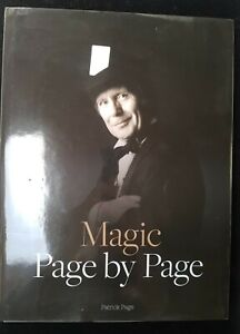 Magic Book - Magic Page by Page by Patrick Page RARE HARDBACK FIRST EDITION