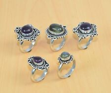 Wholesale 5Pc 925 Silver Plated Purple Amethyst And Mix Stone Ring Lot LC822