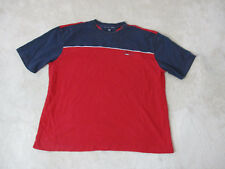 VINTAGE Tommy Hilfiger Shirt Adult 2XL XXL Red Blue Spell Out Color Block 90s