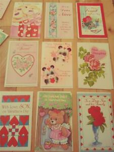 LOT OF 48 UNUSED VALENTINES DAY GREETING CARDS WITH ENVELOPES STORE CLOSED