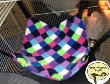 Cosy large hammock ferret,rat,chinchilla,degu. Small Pets Etc.Purple Multi