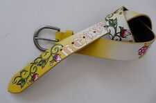 ED HARDY EH 3264 MANMADE LEATHER YELLOW BELT BY CHRISTIAN AUDIGIER sz M