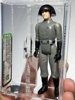 AFA 85 Star Wars 1977 Loose Death Squad Commander Blue Emblem Kenner NM+First 12