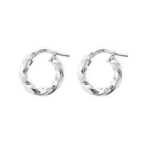 925 Sterling Silver Twist Hoop Creole Earrings / Size 10mm 15mm 20mm 25mm 30mm