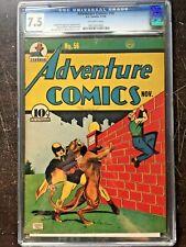 ADVENTURE COMICS #56 CGC VF- 7.5; OW; Baily Hourman cover/art (11/40)!