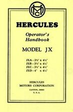 HERCULES JX Engine JXA JXB JXC JXD Operators Manual