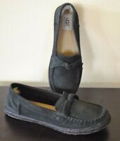 UGG Australia Women's Suede Moccasin Slippers Slip On Shoes DARK COBALT  s 8.5