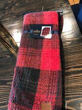 Pendleton 50� X 70� Plaid Reversible Sherpa Fleece Throw Blanket Red & Black