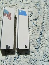 Cat'S Meow Village 2 Wooden Shelf Sitters Flags Nevada & United States