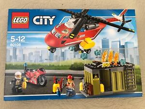 Brand New - Retired - Lego City Fire Response Unit Helicopter 60108 MIB