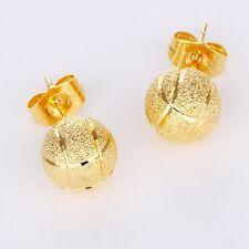 Bead ear stud 18k Yellow Gold Filled Women Earrings Charms Hoops Vogue Jewelry
