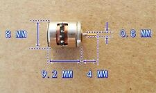 2-phase 4-wire stepper motor with copper gear miniature 8mm X 9.5mm CHIP 81 B