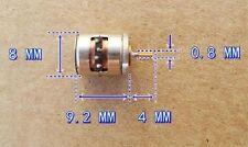 2-fase 4-Wire motore passo-passo con attrezzi di rame in miniatura 8mm x 9.5mm Chip 81 B