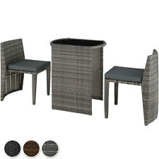 Rattan Set Bistro Garden 3 PCs Furniture Group Table Chairs Balcony Dining Patio
