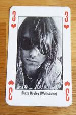 BLAZE BAYLEY WOLFSBANE SINGLE CARD KERRANG THE KING OF METAL 1990's