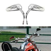 BIG Chrome Motorcycle Rearview Mirrors For Harley Davidson Sportster 1200 883 HG