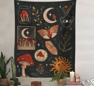 Starry Mushroom Tapestry