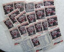 1986 New England Patriots Pocket Schedule Card (Lot of 21) Craig James