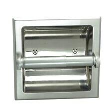 Aurora Satin Nickel Recessed Toilet / Tissue Paper Holder #49670