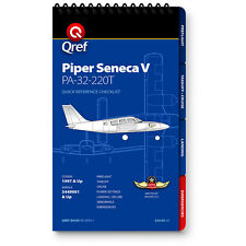 Piper Seneca V PA-34-220T Quick Reference Aircraft Checklist Book by Qref