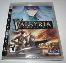 Valkyria Chronicles for Playstation 3 Brand New! Factory Sealed!