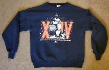 Vintage Starter Super Bowl XXIV 24 San Francisco 49ers Broncos Sweatshirt XL