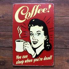 COFFEE Vintage Tin Sign Bar Pub Cafe Wall Decor Retro Metal ART Poster 04